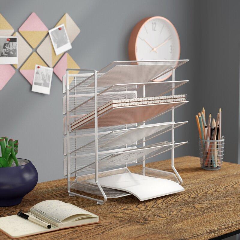 storage accessories by desk rustic cherry wooden wood metal organizer keyboard home rack drawer tanner office black desktop bevel officemax and shelf