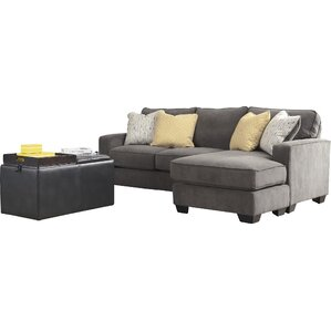 Harriett 93  Reversible Chaise Sectional  sc 1 st  Joss u0026 Main : grey chaise sectional - Sectionals, Sofas & Couches