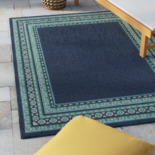 Kailani Navy Green Indoor Outdoor Area Rug