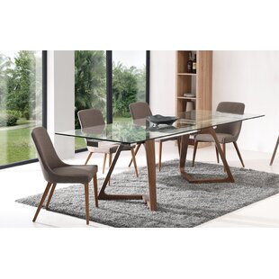 Aiyana Matte 5 Piece Extendable Dining Set
