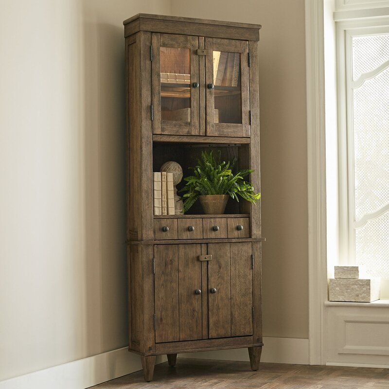 Unique Tall Narrow Corner Cabinet | Wayfair OR64