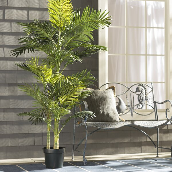 artificial house plants living room beachcrest home brookings palm tree in pot amp reviews 19510