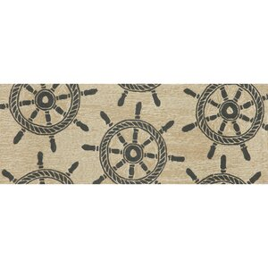 Walton Ship Wheel Neutral Indoor/Outdoor Area Rug