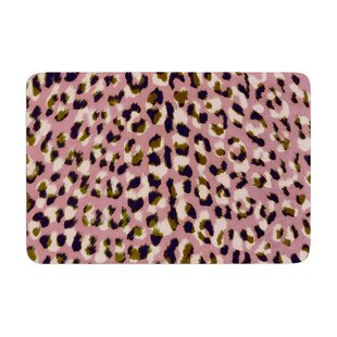 Vasare Nar Leo Cheetah Animal Pattern Memory Foam Bath Rug