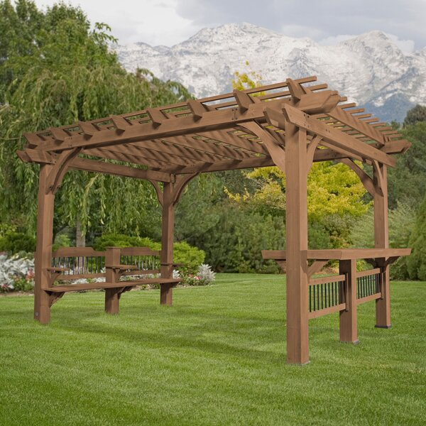 Wayfair Backyard Discovery Oasis 14 Ft W X 10 D Solid Wood Pergola
