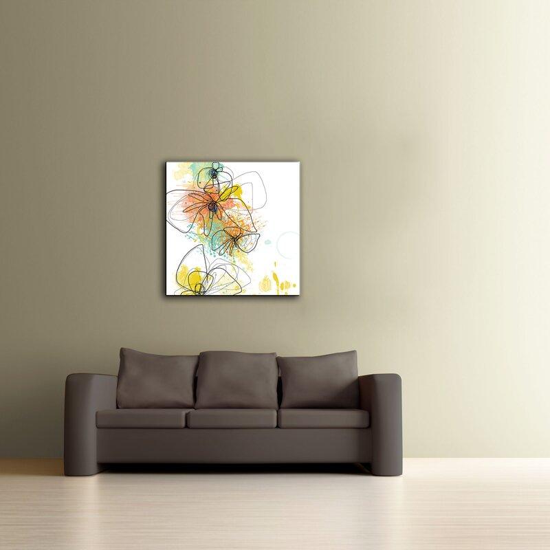 ArtWall ArtApeelz 'Orange Botanica' by Jan Weiss Graphic ...