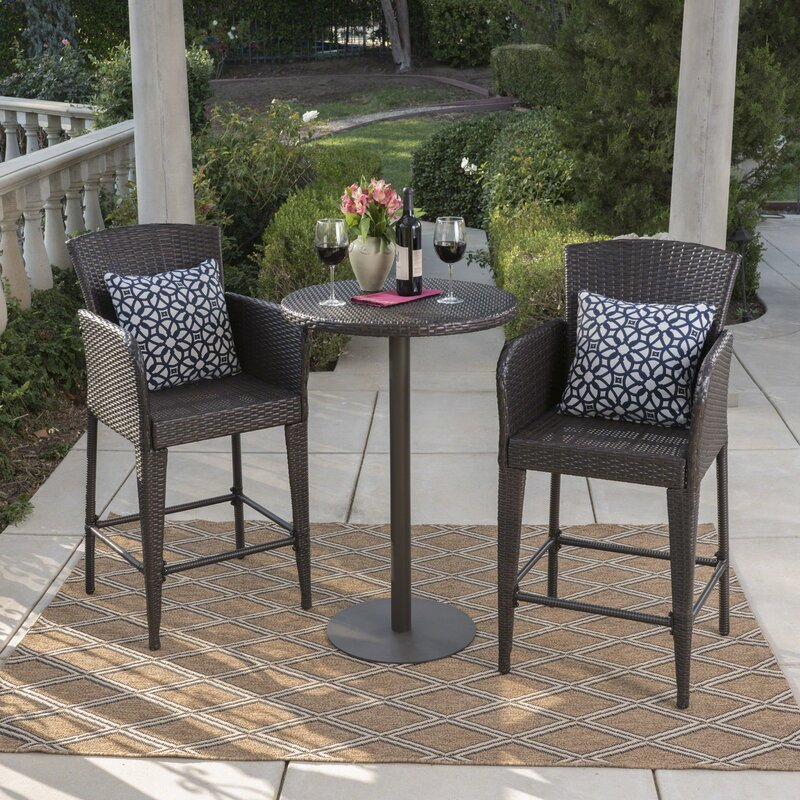 Delicieux Eaton 3 Piece Bar Height Dining Set