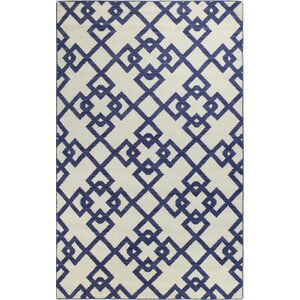 Rockport Ivory/Blue Area Rug