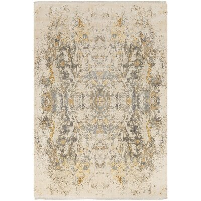 Bungalow Rose Daniella Hand-Knotted Medium Gray/Camel Area Rug Rug Size: Rectangle 8' x 10'