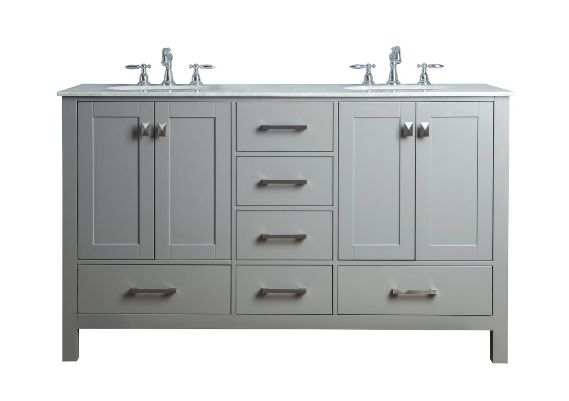 60 double sink bathroom vanity. Ankney 60  Double Sink Bathroom Vanity Brayden Studio Reviews