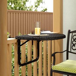 Merveilleux Cropsey Wicker/Rattan Balcony Table