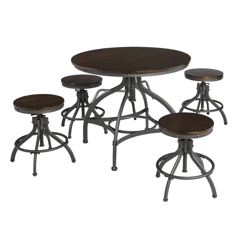 Yvette 5 Piece Counter Height Dining Set Amp Reviews Allmodern