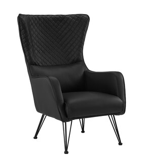 Faux Leather Wingback Accent Chairs Youu0027ll Love | Wayfair