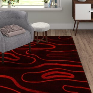 Phoenix Hand-Tufted Red Area Rug by Bakero