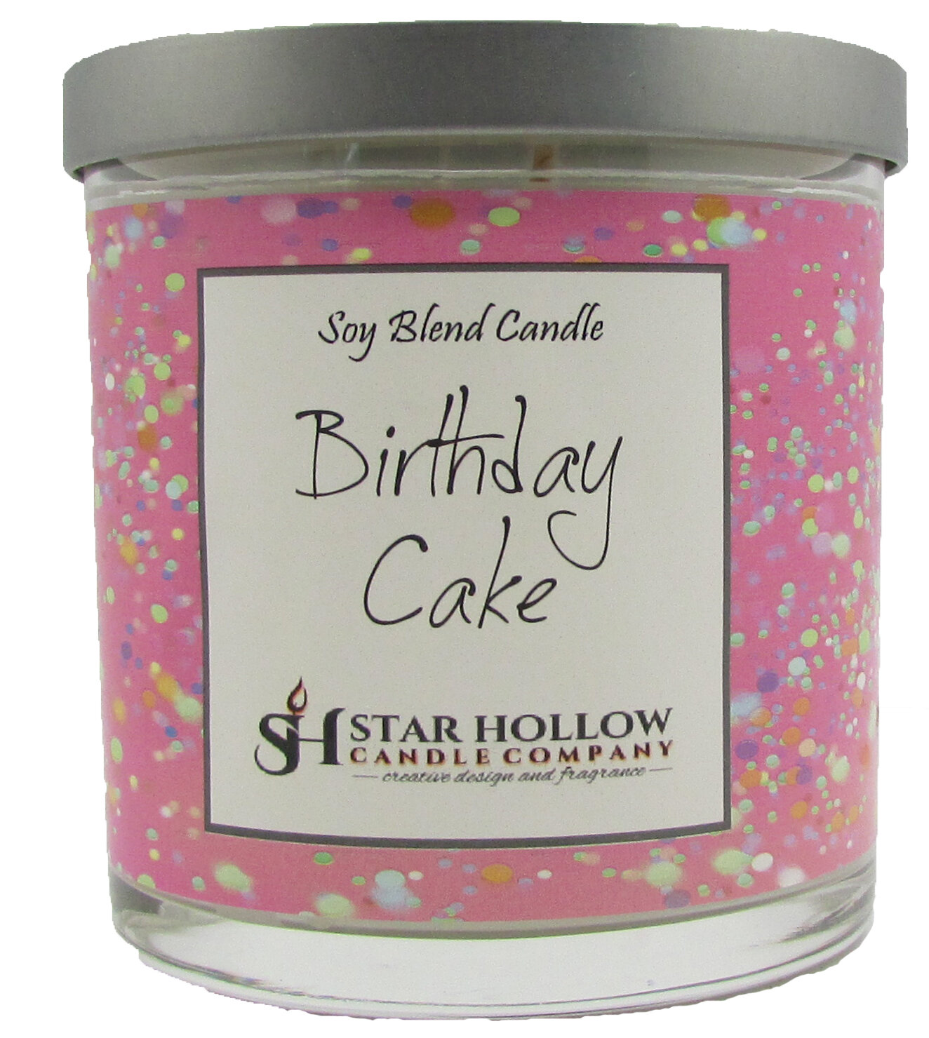 StarHollowCandleCo Birthday Cake Scented Jar Candle