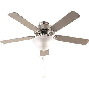 Flush mount ceiling fans youll love wayfair 52 hamlett 3 light 5 blade ceiling fan aloadofball Choice Image
