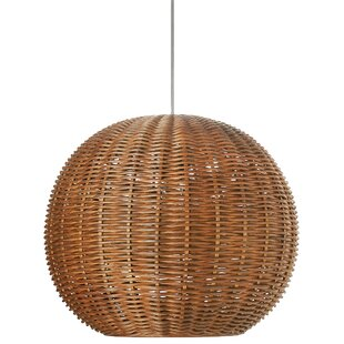 Wicker rattan pendant light wayfair save aloadofball Choice Image