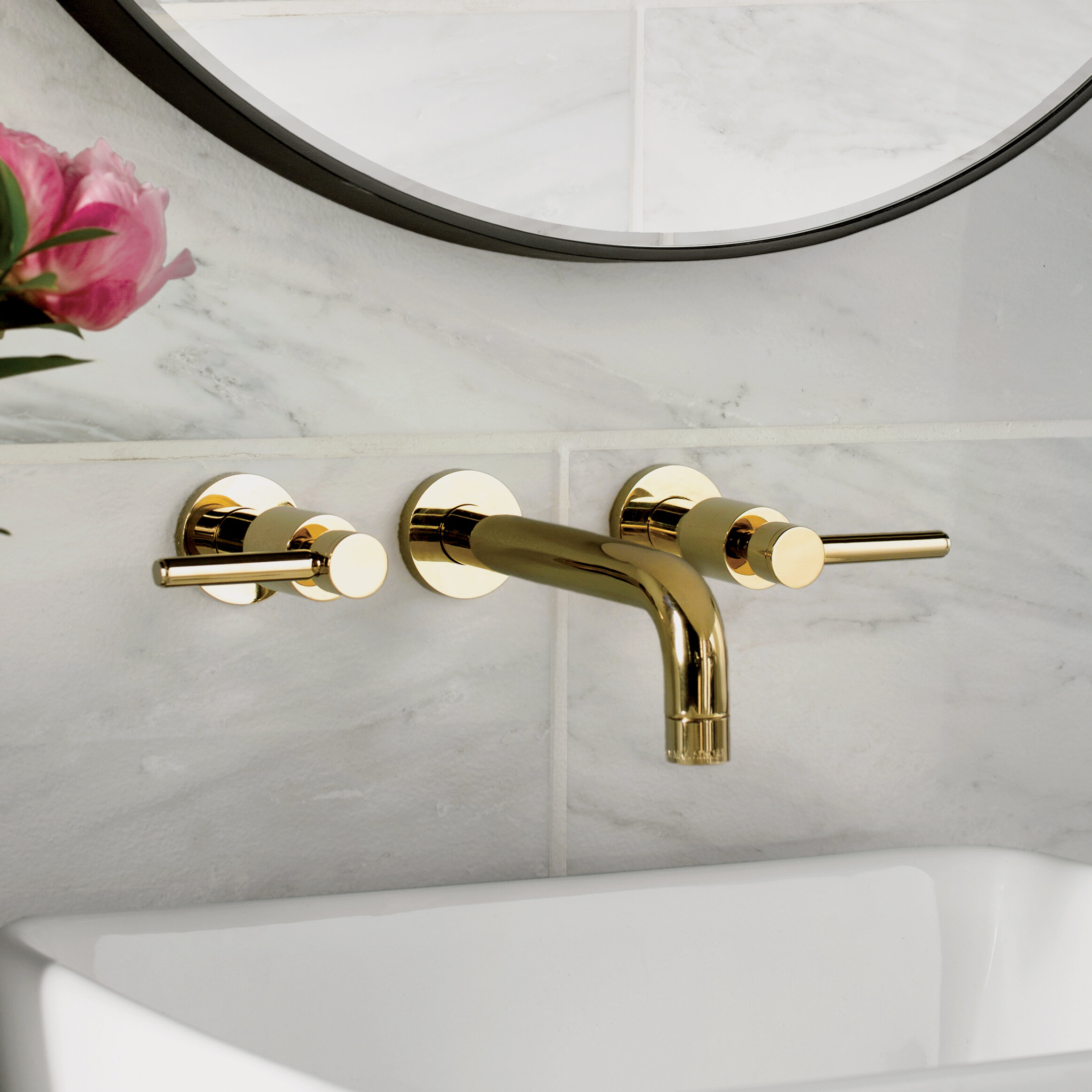 Elements of Design South Beach Wall mounted Bathroom Faucet ...