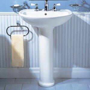 cadet 245 pedestal bathroom sink with overflow
