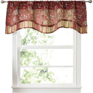 "Navarra Floral 52"" Curtain Valance"