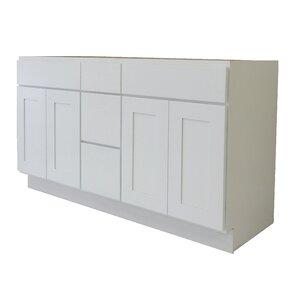 White Shaker Bathroom Vanity   Wayfair