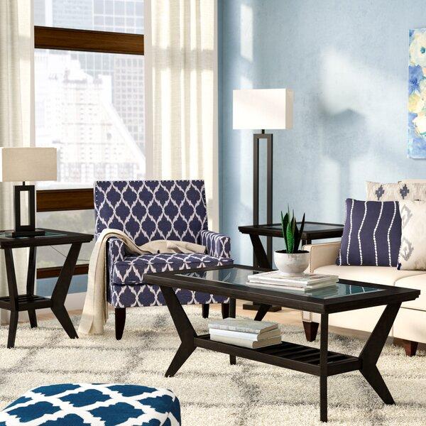 Latitude Run Woodrow 3 Piece Coffee Table Set in Brown & Reviews ...