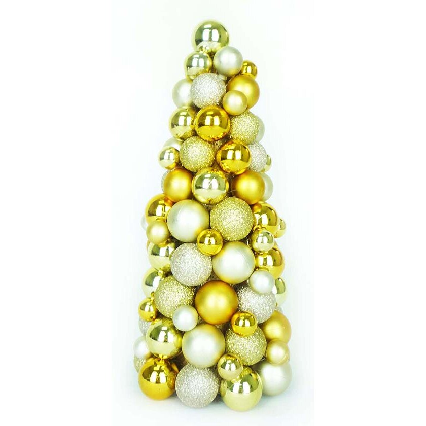 Northlight Shades Of Gold Shatterproof Christmas Ball