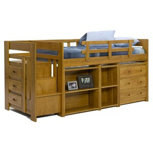 Twin Loft Bed with Storage by Chelsea Home
