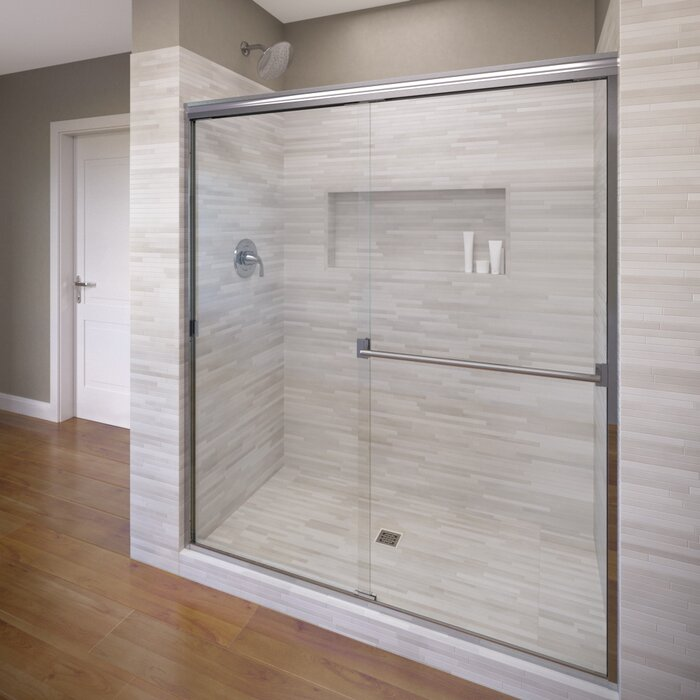 shower glass aquaglidexp frameless hinged alcove in rubbed bronze basco doors x infinity p oil with door clear semi