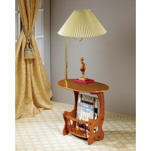 Grenoble Swing Brass Lamp End Table