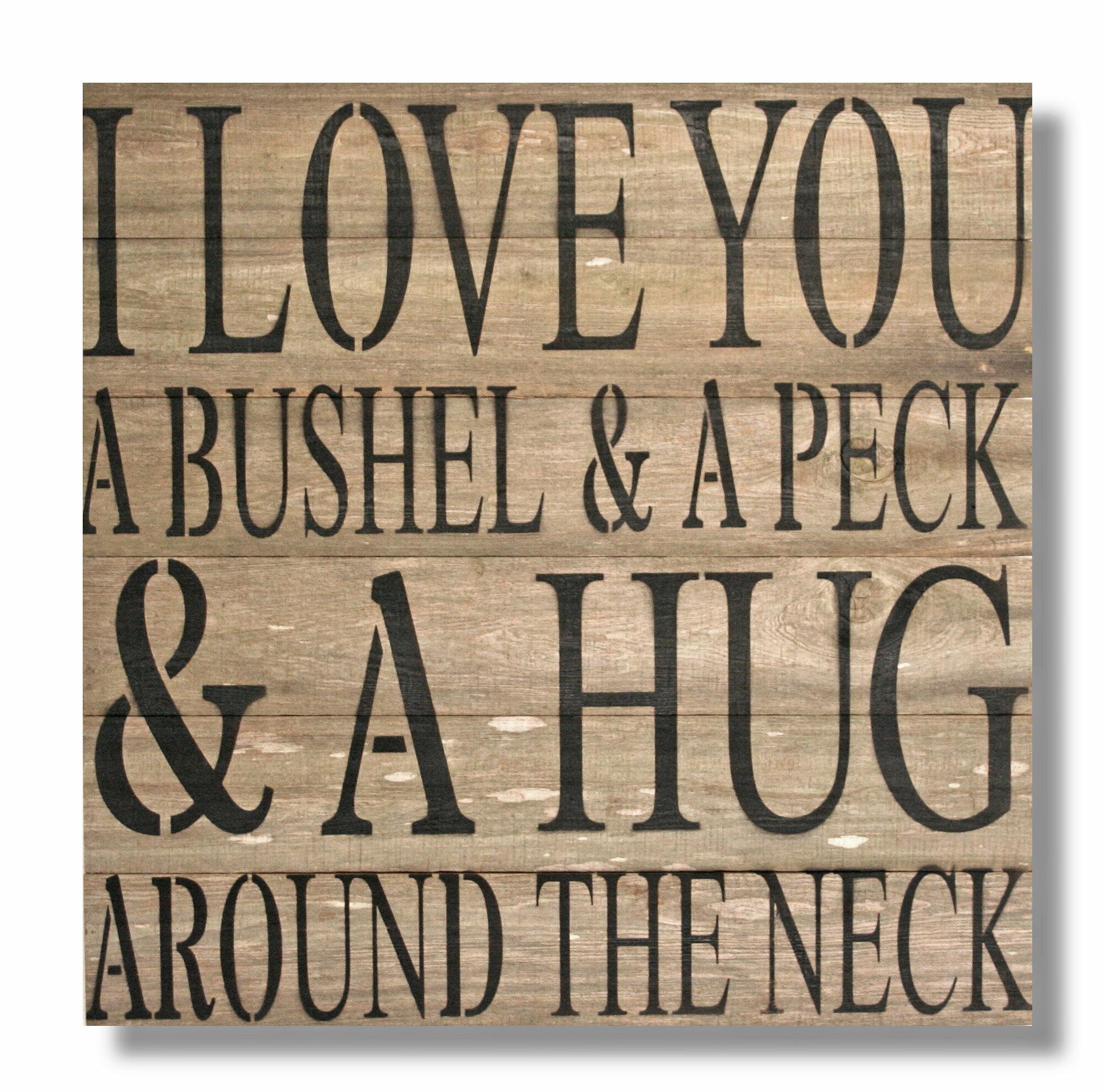 Red Barrel Studio \'I Love You A Bushel & A Peck …\' Textual Art ...