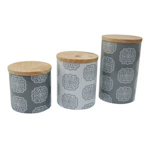 Ceramic 3 Piece Kitchen Canister Set
