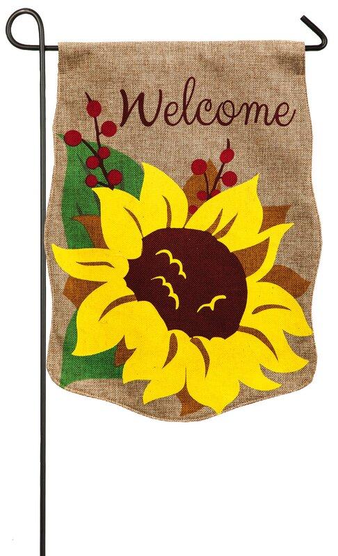 Good Malissa Welcome Sunflower Garden Flag