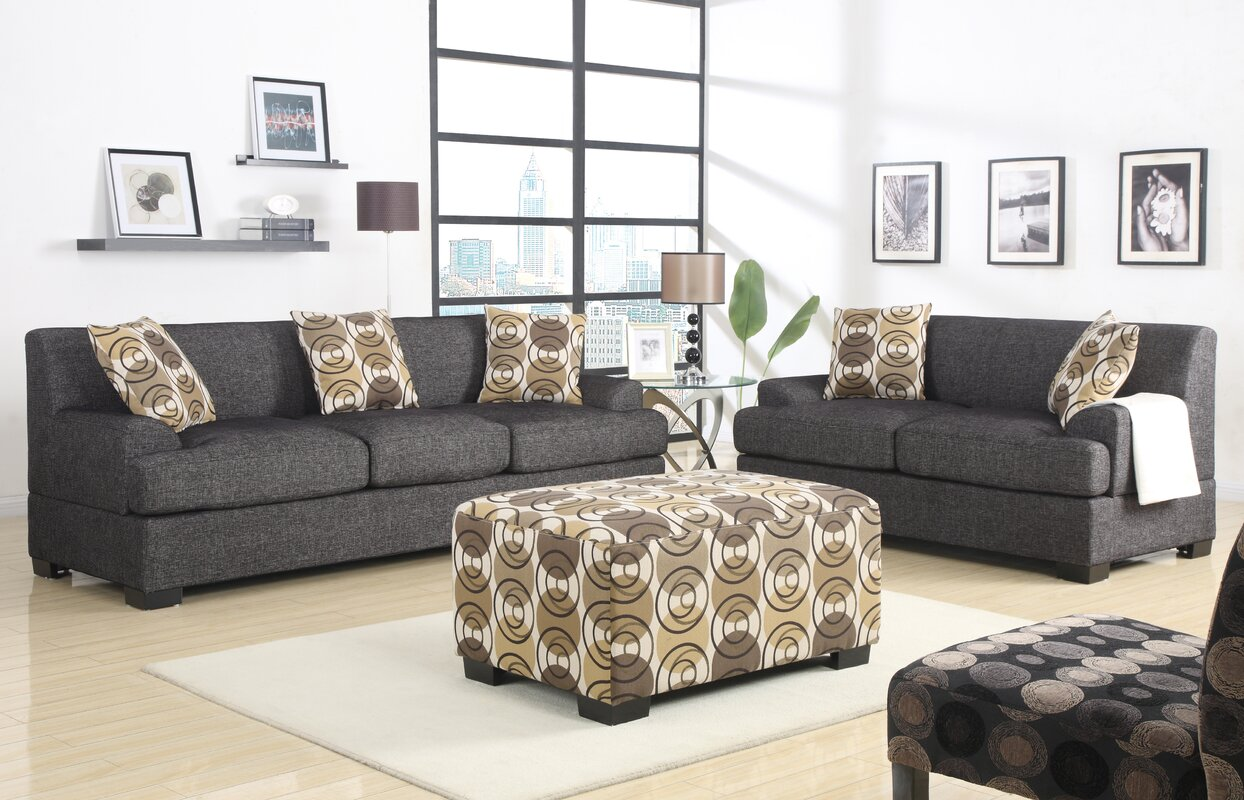 Mila 2 Piece Living Room Set