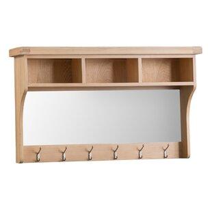 Hall Mirror With Coat Hooks Wayfair Co Uk