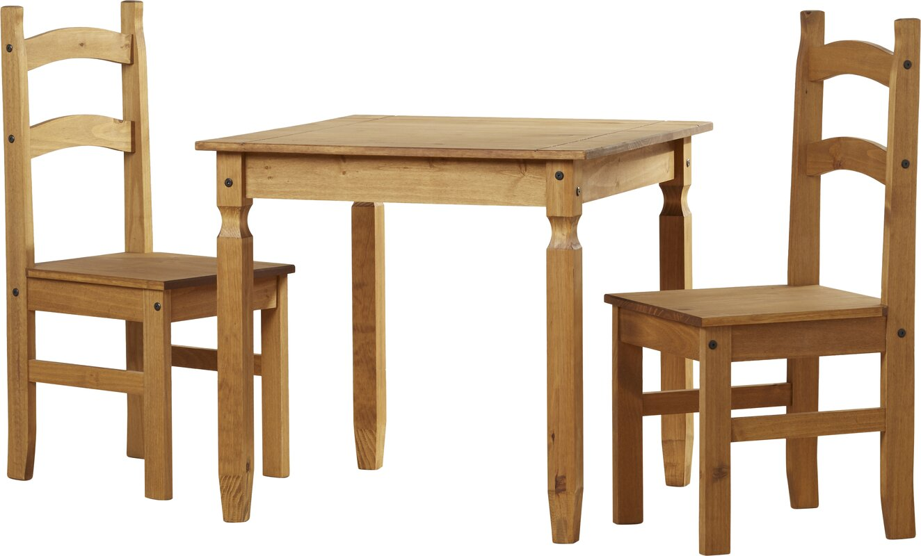 Home Haus Classic Corona Dining Set With 2 Chairs