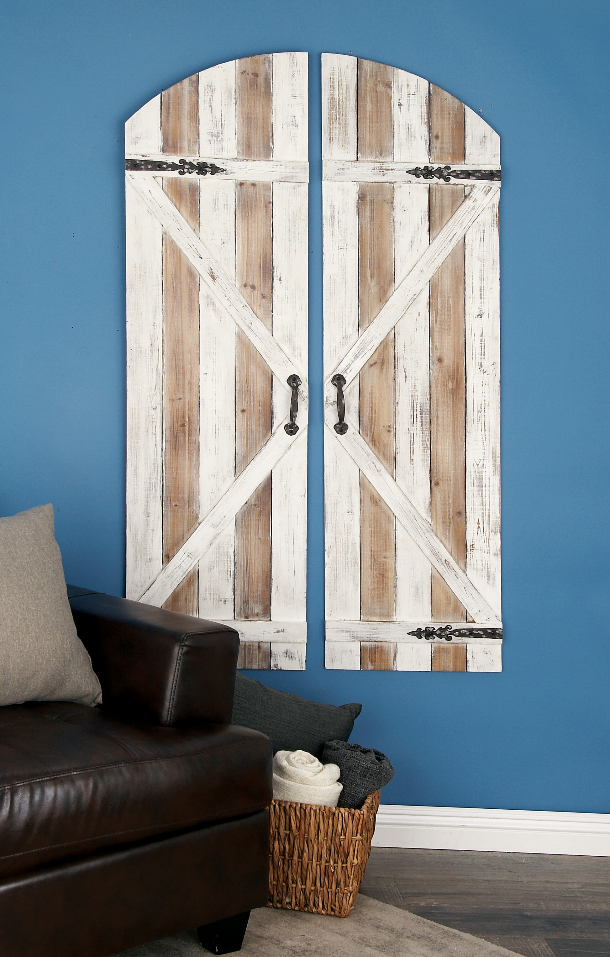 Wood And Metal Door Wall Decor Fair Woodmetal Wall Décor & Reviews  Birch Lane Review