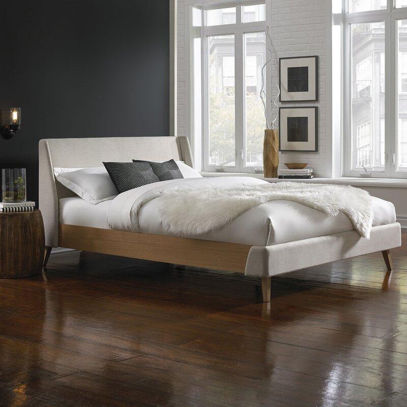 3fb472e728c Bilyeu Upholstered Platform Bed   Reviews