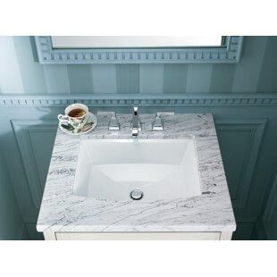 rectangular undermount with overflow lowes ceramic kohler sink sinks bathroom small