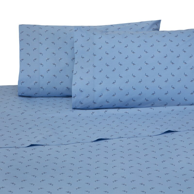 be458ceab Southern Tide Shark Attack 4 Piece 200 Thread Count 100% Cotton Sheet Set    Reviews