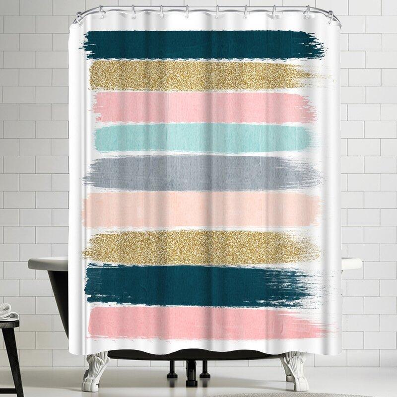 East Urban Home Single Shower Curtain