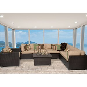 Belle 8 Piece Sectional Seating Group with Cushion