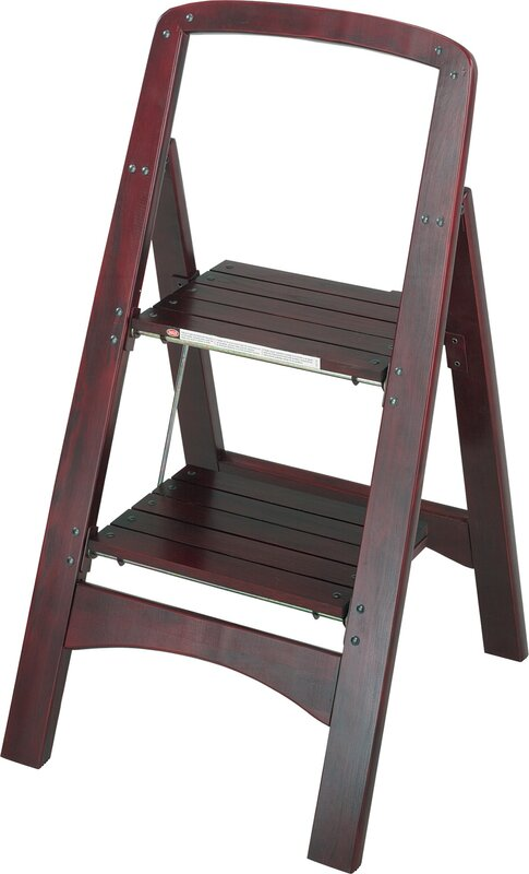 Cosco Home And Office Rockford 2 Step Wood Step Stool With