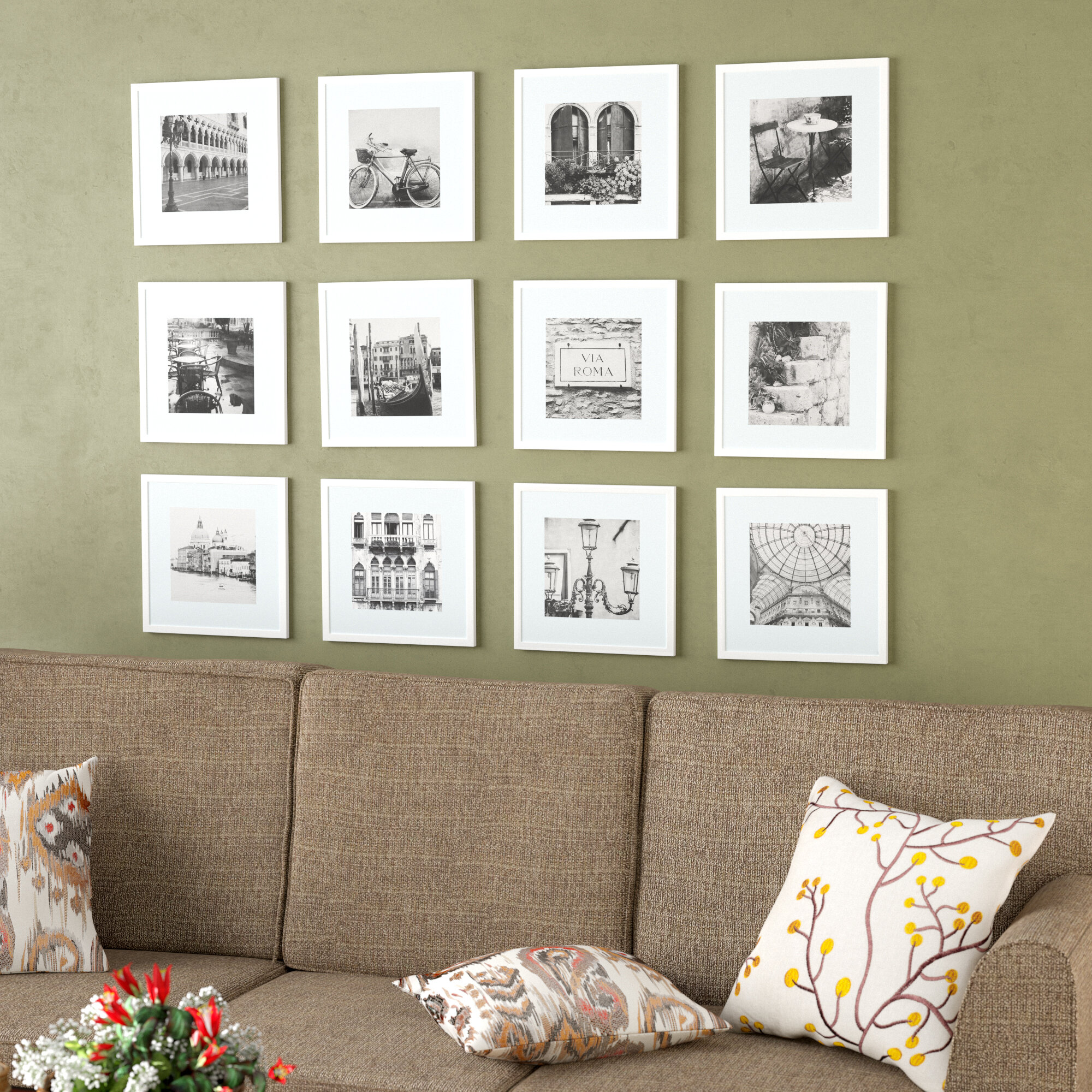 Andover Mills Noland 12 Piece Matted Picture Frame Set Reviews