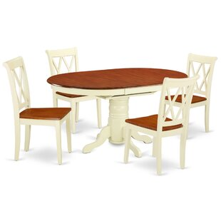 Kymani 5 Piece Extendable Solid Wood Dining Set