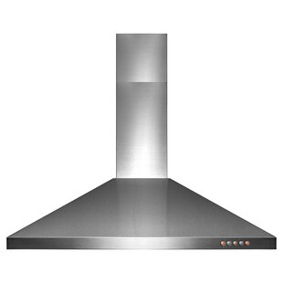 "AKDY Wall Mount Range Hood –36"" Stainless-Steel Kitchen Hood Fan– 3-Speed Professional Motor –Push Control Panel with LED Lighting – Pyramid Modern Design ..."