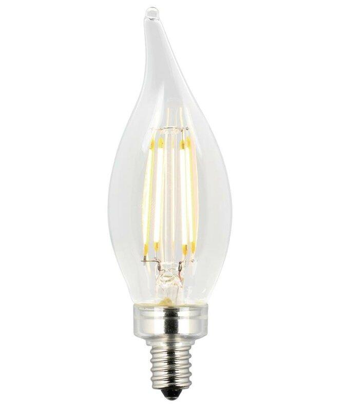Led Light Bulb Candelabra Base: Westinghouse Lighting Candelabra Base CA11 LED Light Bulb
