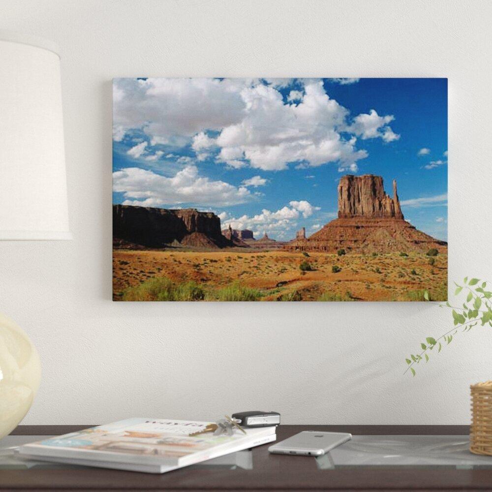 bb1cd33c163c4 East Urban Home 'Landscape View, Monument Valley Navajo Tribal Park, Arizona'  Photographic Print on Canvas | Wayfair