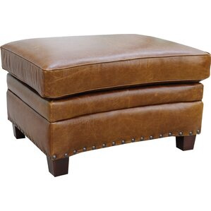 Ashton Leather Ottoman by ..