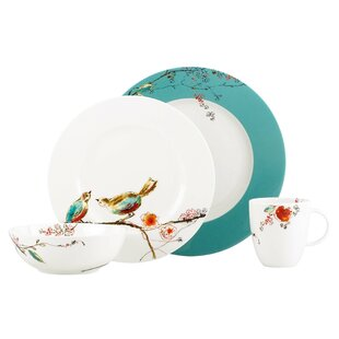 chirp 4 piece bone china place setting set service for 1 - Christmas China Sets